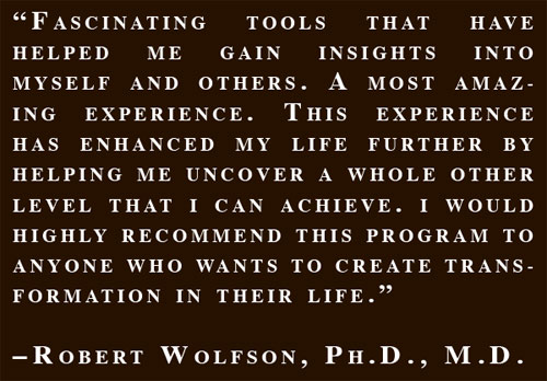 Fascinating tools. - Robert Wolfson, Ph.D., M.D.